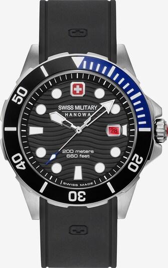 SWISS MILITARY HANOWA Analoguhr in blau / schwarz / weiß, Produktansicht