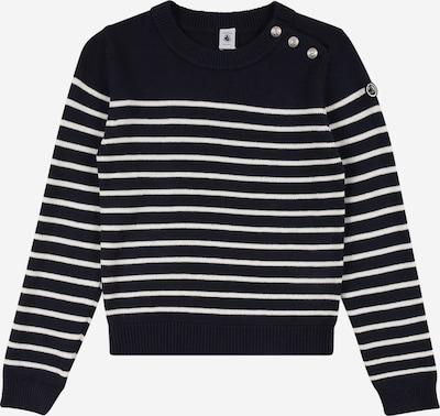 PETIT BATEAU Pullover in dunkelblau / weiß, Produktansicht