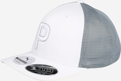 PUMA Casquette de sport en gris / blanc, Vue avec produit