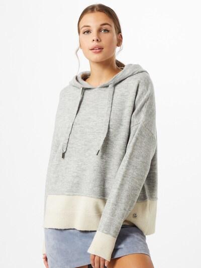 Key Largo Pullover in graumeliert / weiß, Modelansicht