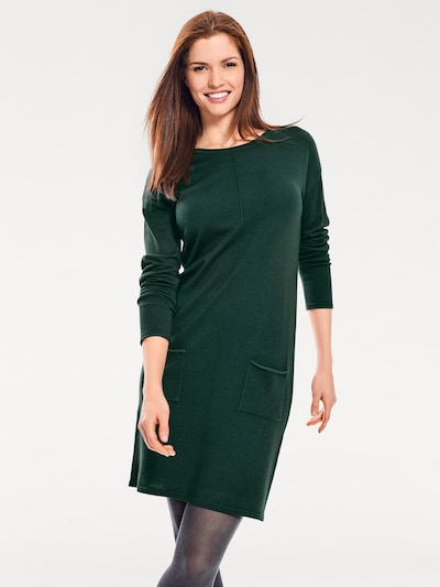 heine Robes en maille en vert foncé, Vue avec modèle