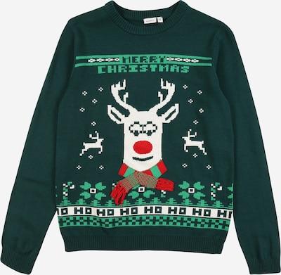 Megztinis 'Reindeer' iš NAME IT , spalva - žalia / įdegio spalva / raudona / balta, Prekių apžvalga
