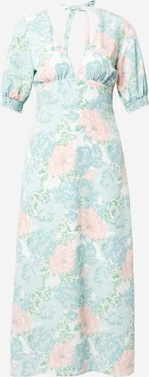 Fashion Union Robe en turquoise / bleu clair / rose / blanc, Vue avec produit