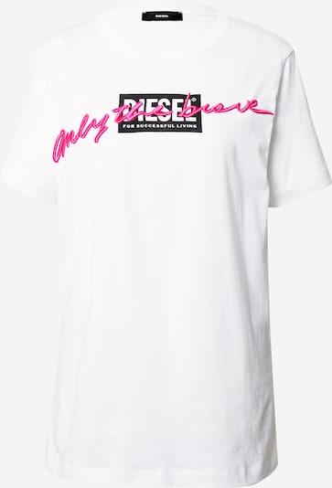 DIESEL T-shirt 'Daria' en rose / noir / blanc, Vue avec produit