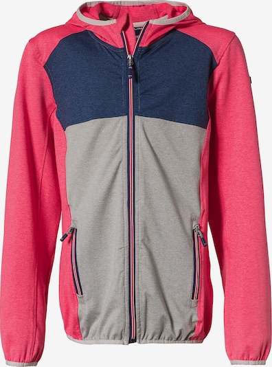 KILLTEC Sportjacke in navy / grau / pink, Produktansicht