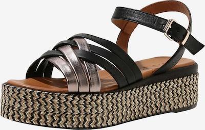 INUOVO Sandale in rosegold / schwarz: Frontalansicht