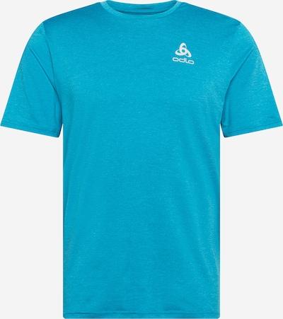ODLO Funkčné tričko - neónovo modrá / biela: Pohľad spredu
