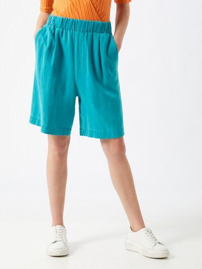 REPLAY Broek in de kleur Turquoise, Modelweergave