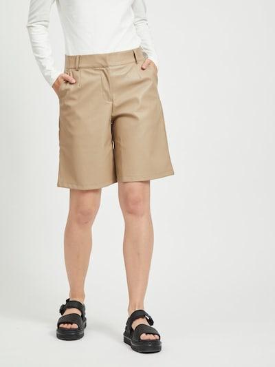 VILA Shorts in hellbraun, Modelansicht
