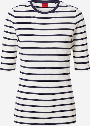 HUGO Majica 'Nilara' | mornarska / bela barva, Prikaz izdelka