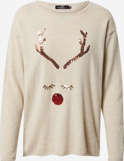 Zwillingsherz Sweater 'Oh Deer' in beige / gold / rose gold / red, Item view