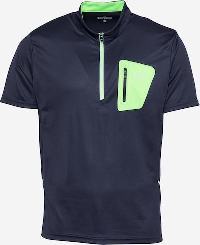 CMP Sportshirt in dunkelblau / limette, Produktansicht