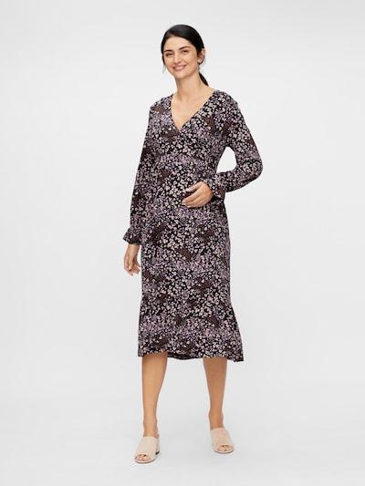 MAMALICIOUS Kleid in kitt / burgunder / schwarz, Modelansicht