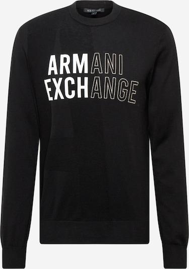 ARMANI EXCHANGE Sveter - čierna / čierna melírovaná / biela, Produkt