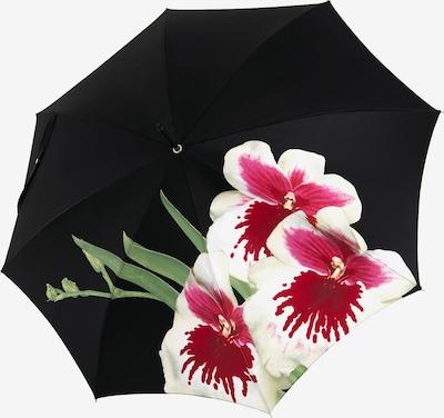 Doppler Manufaktur Regenschrim 'Elegance Noblesse' in grün / fuchsia / schwarz / weiß, Produktansicht