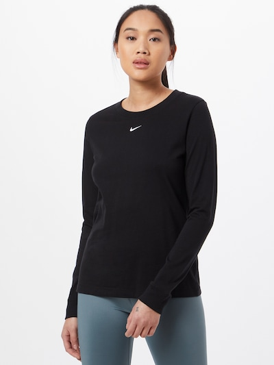 Nike Sportswear Paita värissä musta / valkoinen: Näkymä edestä