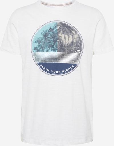 BLEND T-Shirt en bleu foncé / gris / jade / blanc cassé, Vue avec produit