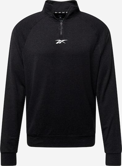 Sportinio tipo megztinis iš Reebok Sport, spalva – juoda / balta, Prekių apžvalga