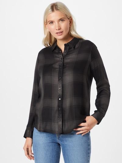 ONLY Bluse 'RILEY' in anthrazit / grey denim, Modelansicht