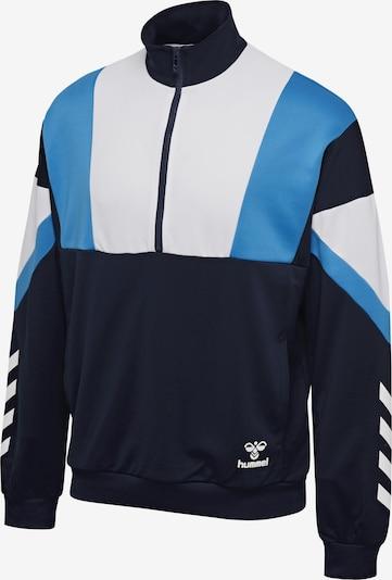 Hummel Half Zip Sweatshirt in hellblau / dunkelblau / weiß, Produktansicht