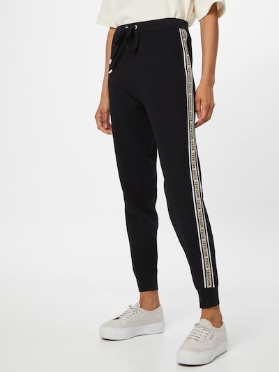 Pantaloni MICHAEL Michael Kors pe bej deschis / negru / alb, Vizualizare model