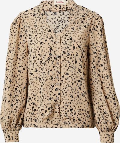 Louche Bluse in beige / schwarz, Produktansicht