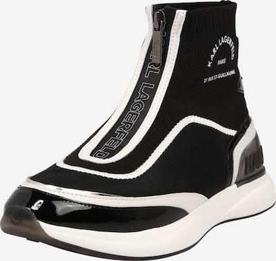 Karl Lagerfeld Bottines 'FINESSE' en noir / blanc, Vue avec produit