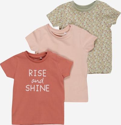 NAME IT T-Shirt 'BARBEL' in hellgrün / hummer / puder, Produktansicht