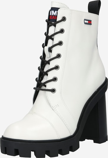 Tommy Jeans Lace-Up Ankle Boots in White, Item view