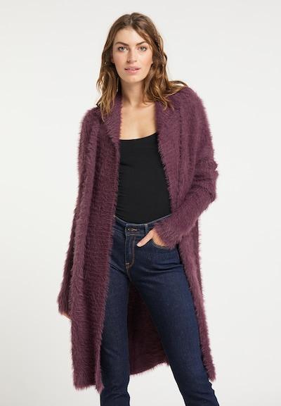 usha FESTIVAL Gebreide mantel in de kleur Pruim, Modelweergave