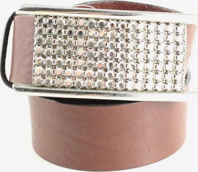 Windsor Ledergürtel in XS-XL in braun / silber, Produktansicht