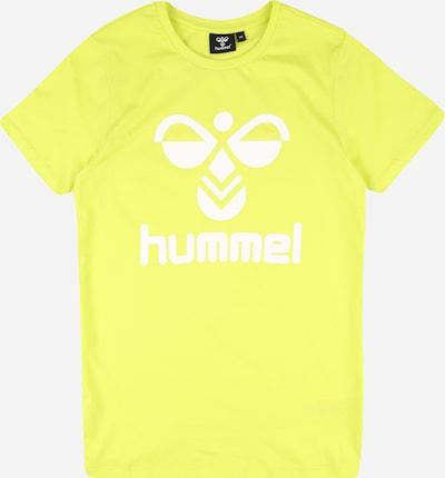 Hummel T-Shirt in neongelb / weiß, Produktansicht
