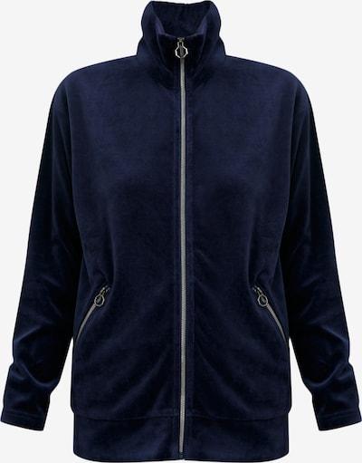 Finn Flare Sweatshirt-Jacke in dunkelblau, Produktansicht