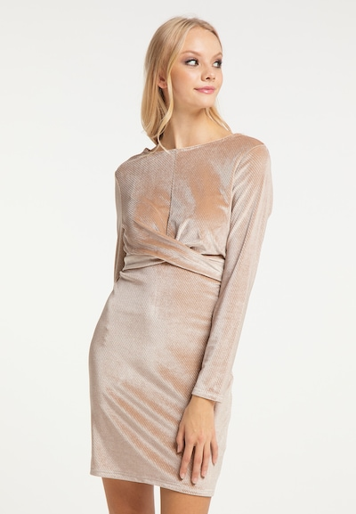 MYMO Kleid in champagner, Modelansicht