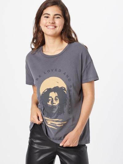 ONLY Тениска 'BOB MARLEY' в жълто / тъмносиво / черно: Изглед отпред