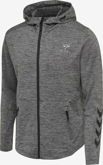 Hummel Zip hoodie in dunkelgrau / graumeliert, Produktansicht
