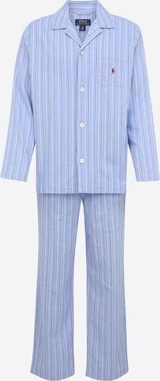 Polo Ralph Lauren Pyjama in hellblau / dunkelrot / weiß, Produktansicht