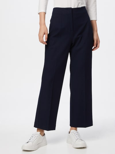 Pantaloni 'LINA' SELECTED FEMME pe navy, Vizualizare model