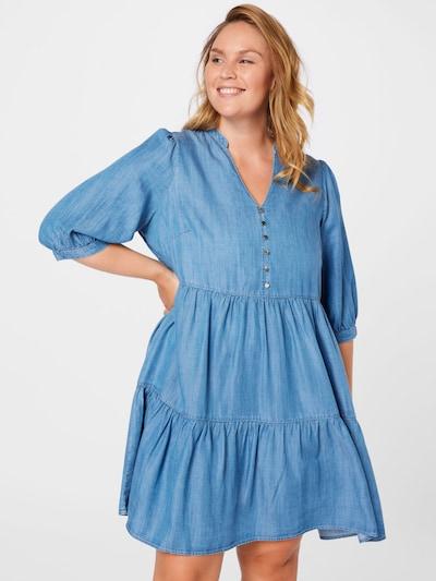 Forever New Curve Рокля 'Judy' в син деним: Изглед отпред