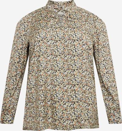 KAFFE CURVE Bluse 'Elitta' in nachtblau / braun / khaki / orange / weiß, Produktansicht