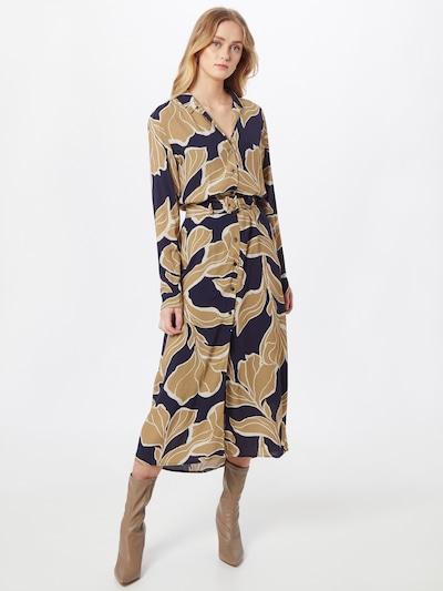 Esprit Collection Kleid in hellbeige / navy / weiß, Modelansicht