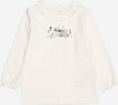 NAME IT Shirt 'BERITA' in mischfarben / weiß: Frontalansicht