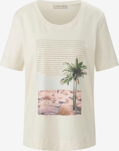 MARGITTES Shirt in de kleur Crème / Groen / Pink / Wit, Productweergave