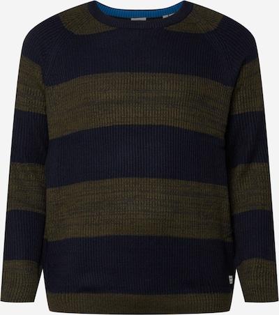 JACK & JONES Pullover in navy / khaki / weiß, Produktansicht
