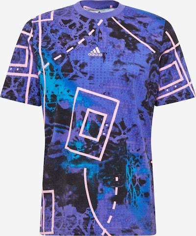 ADIDAS PERFORMANCE T-Shirt fonctionnel en bleu roi / violet clair / noir, Vue avec produit