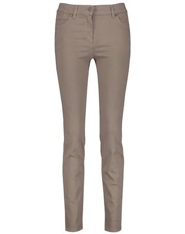 "GERRY WEBER Jeans ""SkinnyFit4me"" organic cotton in Beige"