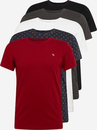 Abercrombie & Fitch Tričko - námořnická modř / tmavě šedá / červená / černá / bílá, Produkt