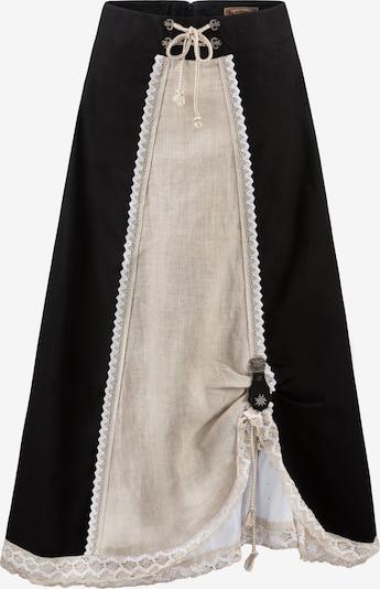 STOCKERPOINT Trachtenrock 'Regina' in ecru / schwarz, Produktansicht