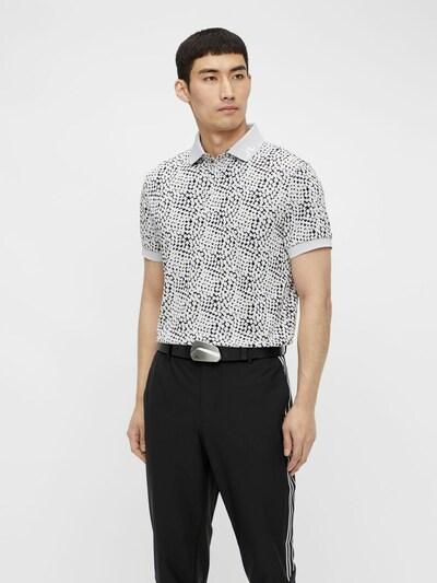 J.Lindeberg Functioneel shirt 'Tour Tech' in de kleur Lichtgrijs / Zwart: Vooraanzicht
