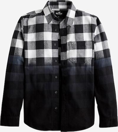 Dalykiniai marškiniai iš HOLLISTER , spalva - juoda / balta: Vaizdas iš priekio